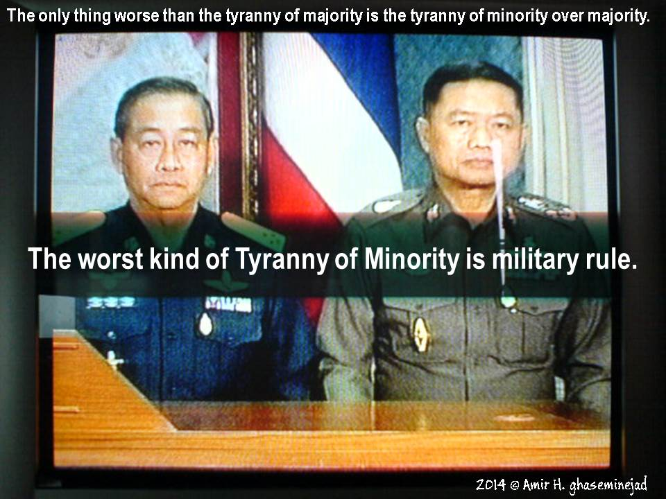 The worst kind of Tyranny of Minority is